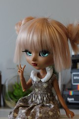 love u (Juju DollPassion) Tags: wig pink doll dolls littlecrow andielewis custom custo full fc mocha tan pullip