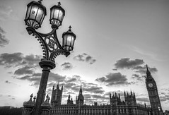 Houses of Parliament & light post in black and white (cmfgu) Tags: london england unitedkingdom uk greatbritain europe palaceofwestminster housesofparliament bigben westminsterbridge lamp light post sunset clouds hdr highdynamicrange sky bw blackandwhite monochrome gift purchase buy sell sale phonecase showercurtain totebag duvetcover throwpillow greetingcard woodprint metalprint acrylicprint framedprint canvasprint wall art prints picture photo photograph photographer artist craigfildes fineartamericacom craigfildesfineartamericacom