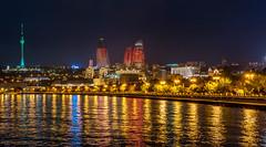 04.10.2014_00047.jpg (dancarln_uk) Tags: travel reflection tower monument architecture night bay baku azerbaijan flame baki azərbaycan baky flametowers