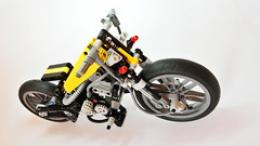 Hardtail Chopper (updated version) (hajdekr) Tags: chopper lego suspension motorcycles motorbike moto motorcycle hardtail moc shockabsorber legotechnic myowncreation vengine legotoyline