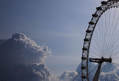 """Eye in the clouds""...Southbank, London (petegatehouse) Tags: sky london clouds londoneye southbank bigwheel touristattraction stormyclouds"