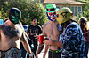 Just a bunch of Luchadores (moke076) Tags: street atlanta shirtless portrait people men halloween face tattoo georgia costume belt nikon little random five guys parade camo mexican masks points annual wrestlers lucha libre l5p onesie luchadore d7000