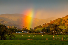 Rainbow over Bryncrug and Dysynni Valley (babs pix) Tags: wales westwales snowdonia gwynedd dysynni bryncrug snowdoniamountainsandcoast tywyngwynedd
