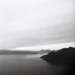 The Sound of Raasay (Mark Rowell) Tags: bw skye 120 6x6 film mediumformat scotland fuji isleofskye hasselblad portree acros 500cm raasay freelensing thesoundofraasay