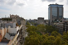 Vista des de l'Hotel Casa Fuster (josepsalabarbany) Tags: ville ciudad diagonal rambles lesrambles hotel bara fcbarcelona urbanismo urbanplanning glise church barcelone santamariadelmar rovira mirador jugendstil blue coast sky nationalism olympicgames modern arquitectura cityscape sculpture journey tourism travel catalonia catalunya flner stroll museum romanico romanesque cathedral gothic domenechimontaner gaudi history century nouveau modernismo skyline art building architecture water shade light sea bnkers city mediterranean view vista barcelona josepsalabarbany
