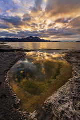 Reflecting Sunset (Frank Normannsen) Tags: autumn sunset sea sun fall nature beautiful norway seaside amazing nikon sunny nordland d610 inndyr normannsen franknormannsen