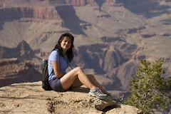 She has her 'vacation smile' on again (SteveProsser) Tags: arizona smile grandcanyon vacationsmile