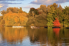 Automne (rogermarcel) Tags: autumn red orange colors yellow jaune river boat waterscape rogermarcel