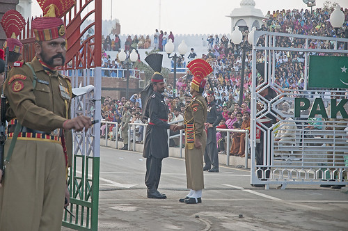 From flickr.com: India Pakistan Border Wagha {MID-169260}