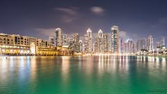 Dubai Marina (Benoit Rossignol) Tags: longexposure building skyline night marina landscape dubai arabic paysage nuit immeuble gratteciel poselongue d700