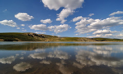 Clouds in the Sky (Salvador Moreira) Tags: lake reflection clouds landscape lago spain nikon paisaje nubes reflejo d90