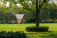 Shuttlecock (severalsnakes) Tags: sculpture art museum birdie pentax kansascity missouri kc badminton nelsonatkins shuttlecock niftyfifty k30 pentaxa5017 travelinglens
