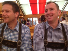 Tor and Paul having fun at The volksfest!