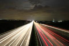 Autobahn bei Nacht 5 (AxxG) Tags: autobahn strom nachts geschwindigkeit schnelligkeit
