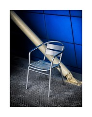 Supporting Roles (icypics) Tags: stilllife colour texture lines liverpool chair industrial furniture geometry southport