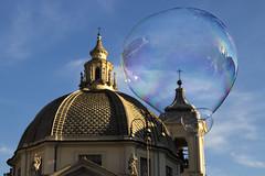 Soap Bubble Church (Cristiano Drago) Tags: trip italy rome roma canon soap italia chiesa bubble bolla lazio soapbubble bolle sapone blondegirl 650d bolladisapone cristianodrago