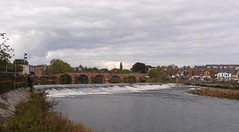 Devorgilla Bridge that crosses the River Nith near the caul (weir) in Dumfries (penlea1954) Tags: old uk bridge lady standing john river scotland king bridges oldest balliol weir dumfries galloway nith caul devorgilla devorgillas |galloway