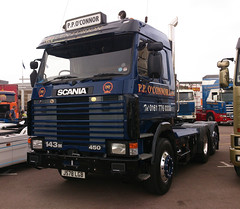 P.P.O'Connor Scania 143M 450 (71B / 70F ( Ex Jibup )) Tags: truck cab wheels lorry chassis v8 tyres sleeper scania haulage r500 topline fifthwheel sleepercab axles r620 r480 143m