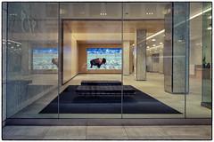 On Lexington Ave, Midtown Manhattan (4sb) Tags: street nyc ny newyork glass manhattan lexington surreal lobby midtown sp bison lexingtonavenue