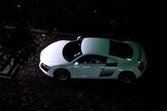 Audi R8 (ChesterC Photography) Tags: white vw night germany hongkong panasonic audi 42 supercar r8 gx1 45175mm