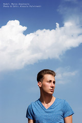 (Alessio Pulvirenti) Tags: wood blue portrait sky bw white man black leaves fashion yellow backlight clouds canon model eyes moda uomo jeans jacket cielo ritratto controluce blone alessio pulvirenti