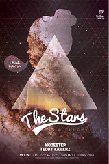 The Stars Poster (DusskDesign) Tags: party music sexy girl print poster stars typography star design flyer model space galaxy techno psd template alternative dubstep