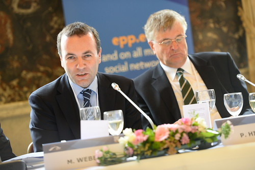 party people european parliament summit epp chairman weber manfred 2014 euco