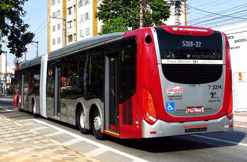 Viação Campo Belo 7 2214 - Caio Millennium BRT Articulado - Mercedes-Benz O500UDA Bluetec5 - FSJ7642