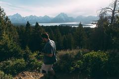 Teton Overlook (kylesipple) Tags: camping lake nature landscape jenny backpacking wyoming grandtetons leigh grandtetonnationalpark jacksonlake poler jennylake leighlake campvibes