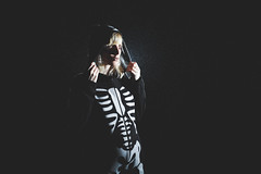 Night Of The Dead  (333Bracket) Tags: black london halloween girl rain night dead skeleton bokeh ef50mmf14 fullframe lowkey 333bracket canon5dmk2