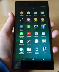 Sony Experia Z Ultra portrait held in one hand