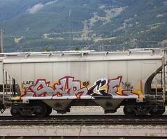 SARCE (YardJock) Tags: railroad metal train graffiti steel spraypaint hopper freighttrain rollingstock benching benchreport