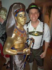 Garrett & Dave's Halloween Party 2014 (S.S.Poseidon) Tags: party halloween costume kingtut yodeler patrickr marcellush