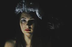 halloween duo (Natlia Lenuchov) Tags: flowers red portrait halloween me girl beauty face dark alone skin duo fear ghost lips horror daisy devil selfie wonderworld