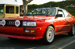 Audi Quattro (Miltontheguy) Tags: auto california old school b red cars coffee car wheel photography lights drive photo all 4x4 photos rally group fast automotive autos expensive audi rare exclusive irvine hella quattro