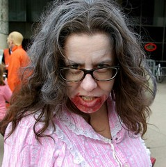 She's a Zombie in the Morning (Georgie_grrl) Tags: costumes toronto ontario fun cool friend freaky event carol pjs undead nathanphillipssquare 2014 walkingdead zombiewalk wakeywakey pentaxk10d lifeimpaired furtherintothedarkside rrrrrrrjustpassthecoffee