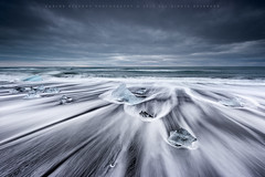 Trail of Diamonds (CResende) Tags: seascape motion ice nature diamonds landscape iceland waves time crystal trail iceberg jokulsarlon d800 cresende lucroit