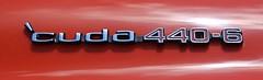 1972 Cuda 440-6 Emblem (Bill Jacomet) Tags: show car san texas tx annual mopar antonio 32nd 2014