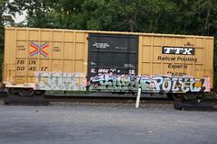Soma Kuthe Polyn (BombTrains) Tags: road railroad art train bench graffiti paint dad tag graf rip some rail spray graff freight 2010 fr8 polyn benching fbox n4n kuthe 504517