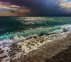 rd-126 (Melissa Maples) Tags: cameraphone autumn sea mountains beach apple water clouds turkey asia mediterranean teal trkiye antalya iphone  iphone4 konyaaltzero racedaycountdown