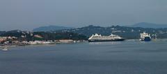 Cruise ship in Corfu Town (Eddie Crutchley) Tags: coast europe harbour greece cruiseship corfu cityview kerkira