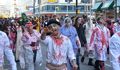 back for brains (Mr.  Mark) Tags: toronto halloween march photo costume scary blood funny mask zombie crowd stock makeup parade creepy brains gore 2014 markboucher
