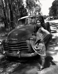 Bodega Bay, California 1975 (Dave Glass . foto) Tags: california pickuptruck 1970s bodegabay 1953chevrolettruck 1953chevypickup kodakplusxfilm minoltasr2