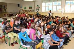 Los hermanos Diop visitan el Colegio López de Guereñu