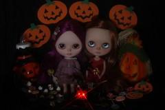 Happy Halloween!!! (Lelie loves bubble*tea) Tags: halloween doll factory jackolantern blythe treat trick custom tbl takara tomy facebook faceup