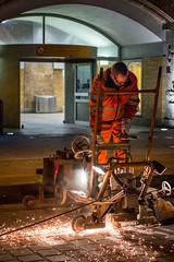 Nachtarbeiten (he-sk) Tags: berlin night germany maintenance alexanderplatz worker urbanrail