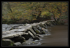 Tarr Steps 2014 (RattyBoots) Tags: old bridge autumn canon ancient dusk 7d exmoor clapper 24105 tarrsteps november2014