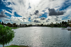 North Lake, Irvine, CA (AdrienneCredoPhotography) Tags: california county blue autumn sky orange lake fall rain weather clouds nikon socal irvine d3200