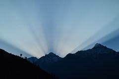 Morning view (Sougata2013) Tags: morning sky india mountain nature landscape nikon october hill rays himalaya sunrays himachalpradesh 2014 nikond3200 keylong himalayanrange lahaulvalley lahaul