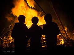 _MG_3109 (linda_lamb30) Tags: silhouette fire flames silhouettes bonfire